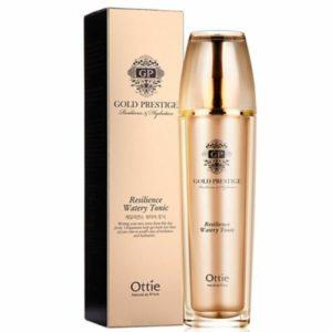 Увлажняющий тонер для упругости кожи Ottie Gold Prestige Resilience Watery Tonic