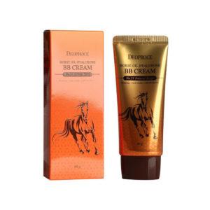 Крем ББ с гиалуроновой кислотой и лошадиным жиром Deoproce Horse Oil Hyalurone BB SPF 50+ PA+++ No. 21 Natural beige