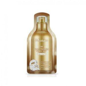 Кислородная тканевая маска с пептидами и золотом JMsolution 24K Gold Premium Peptide Mask Special (Gold)
