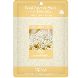 Маска тканевая для лица Mijin Essence Mask с жемчужной пудрой