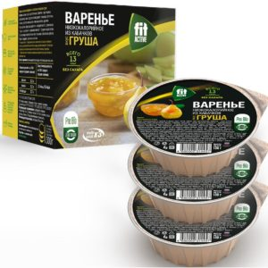 Варенье без сахара низкокалорийное из кабачков Груша multi pack*3, Фитактив, 300 г (коробка)