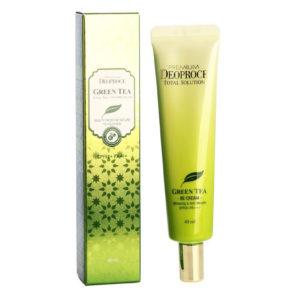 Солнцезащитный BB крем Premium Deproce Green Tea Total Solution BB Cream SPF50+PA+++