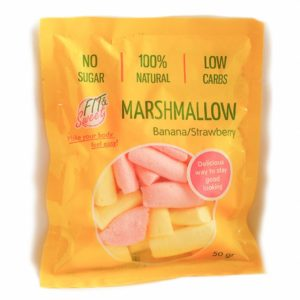 Маршмеллоу клубнично-банановый Fit&Sweet