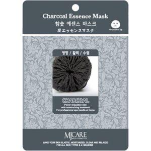 Маска тканевая для лица Mijin Essence Mask с древесным углем