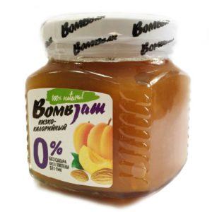 Джем низкокалорийный Абрикос-Миндаль, BombJam, 250 г