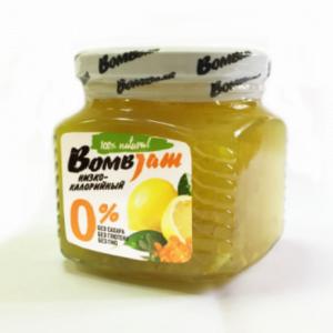 Джем низкокалорийный Облепиха-Лимон, BombJam, 250 г