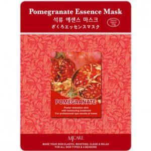 Маска тканевая для лица Mijin Essence Mask с гранатом